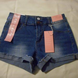 Encore Jeans Roll Fray High Rise Shorts